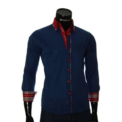 Мужская однотонная приталенная рубашка MM 1964-4