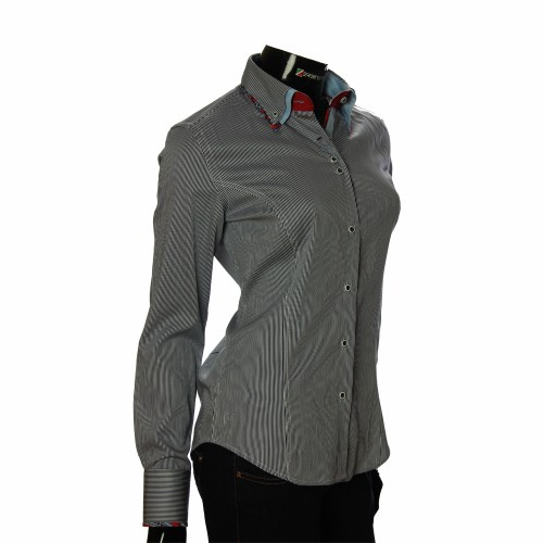 Women`s Slim Fit striped shirt IMK 1029-2