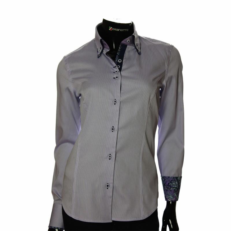 Women`s Slim Fit striped shirt IMK 1029-3
