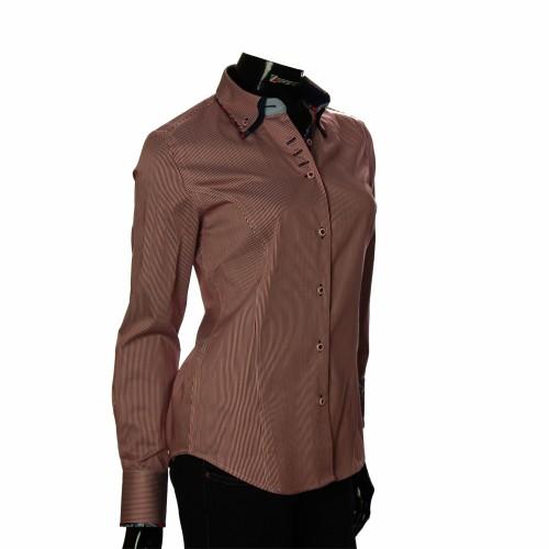 Женская приталенная рубашка в полоску IMK 1029-4