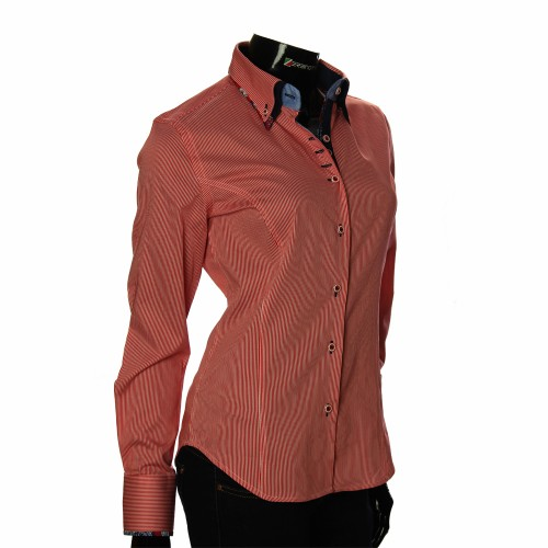 Women`s Slim Fit striped shirt IMK 1029-7