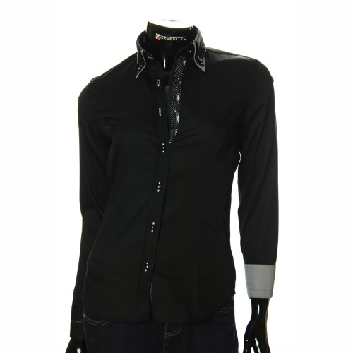 Women`s Slim Fit plain shirt DMN 1023-1