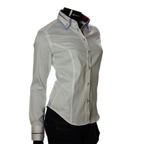 Женская однотонная приталенная рубашка DMN 1023-2