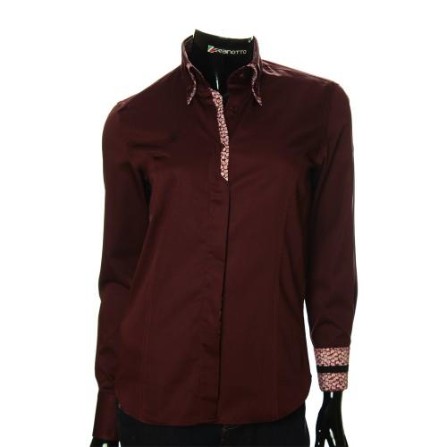 Женская однотонная приталенная рубашка DMN 1021-2