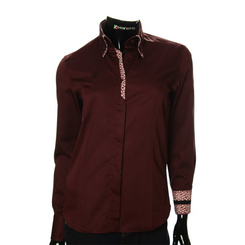 Women`s Slim Fit plain shirt DMN 1021-2