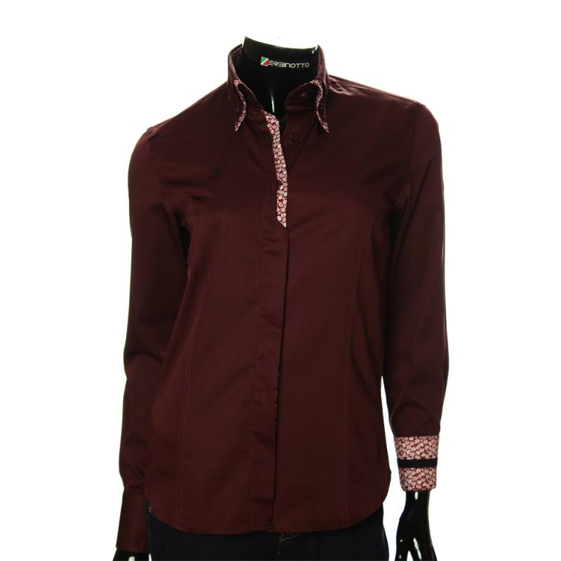 Women`s Slim Fit plain shirt DMN 1021-2