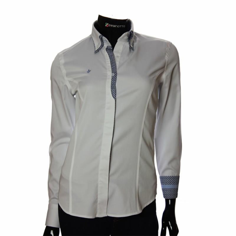 Женская однотонная приталенная рубашка DMN 1021-1
