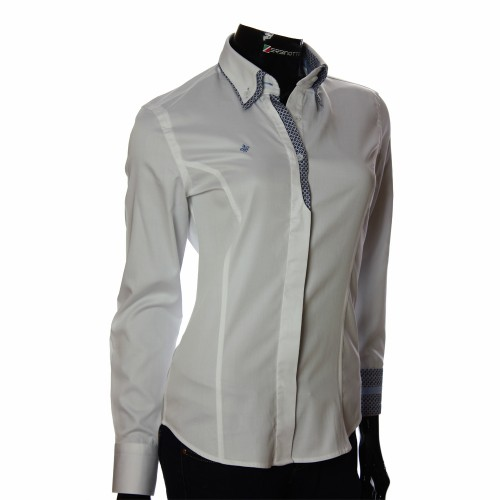 Women`s Slim Fit plain shirt DMN 1021-1