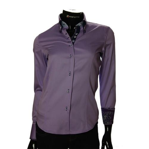 Женская однотонная приталенная рубашка TNL 1027-1