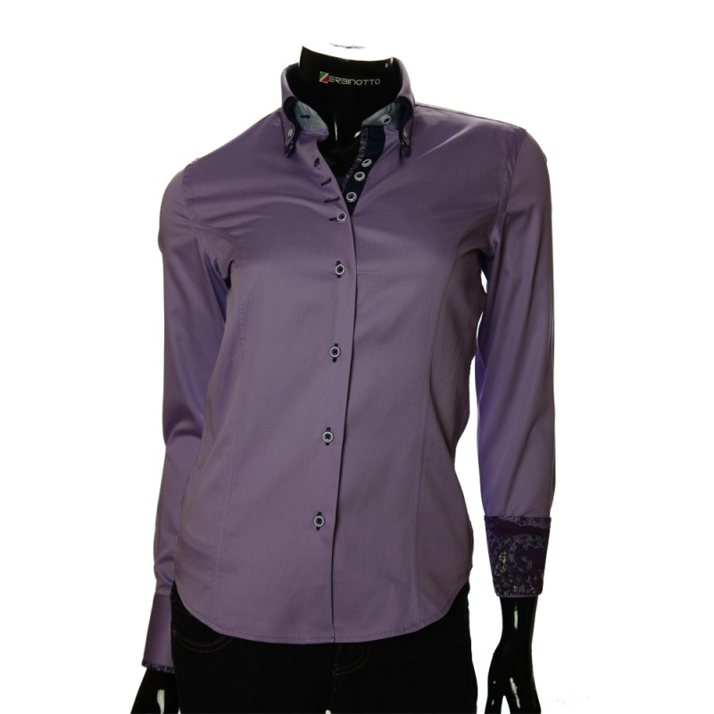 Women`s Slim Fit plain shirt TNL 1027-1
