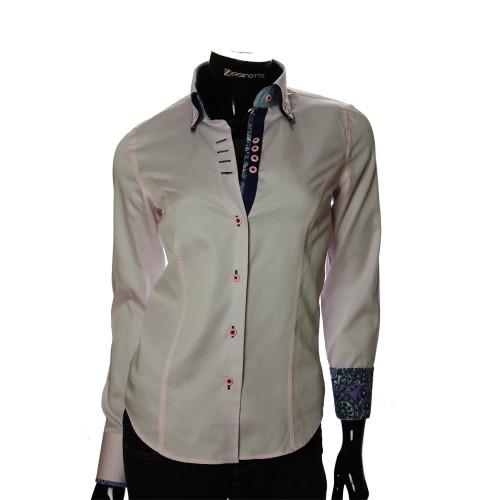Женская однотонная приталенная рубашка TNL 1027-3