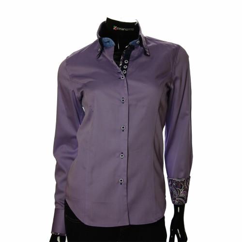 Женская однотонная приталенная рубашка TNL 1027-5