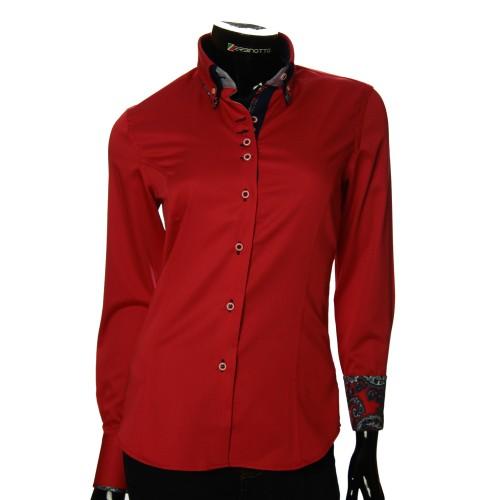 Женская однотонная приталенная рубашка TNL 1027-6