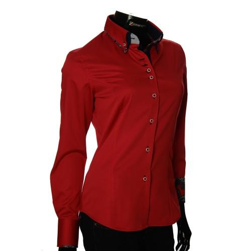 Женская однотонная приталенная рубашка TNL 1019