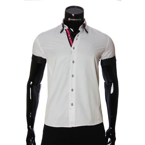 Men`s Slim Fit plain shirt with short sleeve MM 919-1