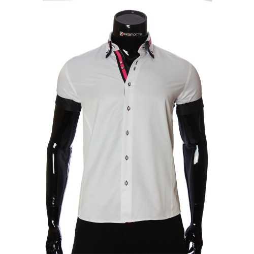 Men`s Slim Fit plain shirt with short sleeve MM 919-1