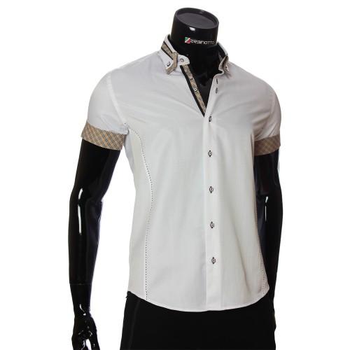 Men`s Slim Fit plain shirt with short sleeve MM 923-2