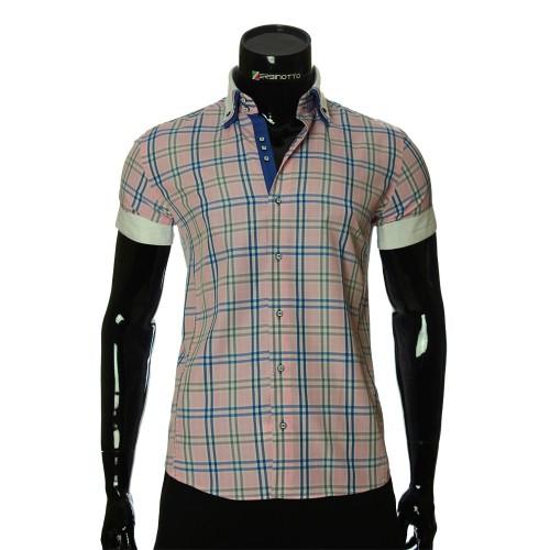 Мужская рубашка в клетку с коротким рукавом MM 925-9