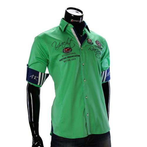 Мужская однотонная рубашка в стиле нотикал ARM 2018-2