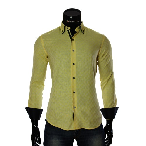 Мужская приталенная рубашка в клетку KC 1968-2