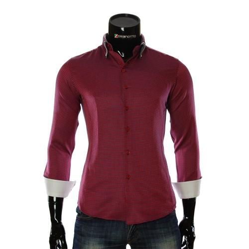 Мужская приталенная рубашка в узор MM 1967-2