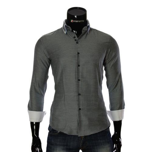 Мужская приталенная рубашка в узор MM 1967-3