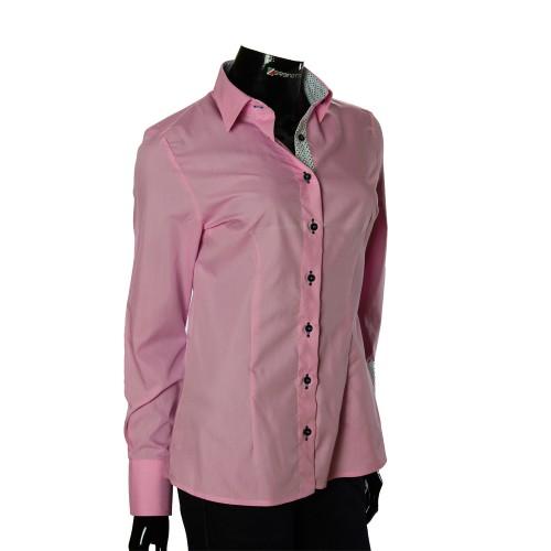 Женская однотонная приталенная рубашка LF 0001-1