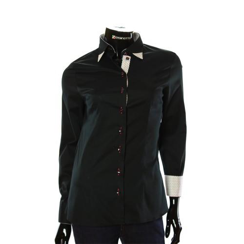 Stretch Cotton Slim Fit Black Shirt LF 0011-1