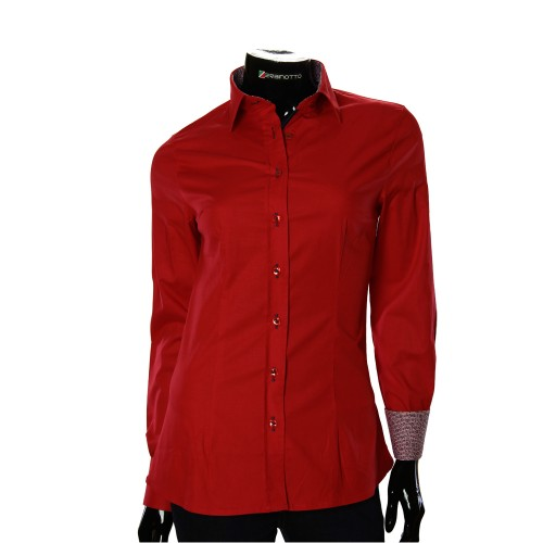 Stretch Cotton Red Shirt LF 0019-35
