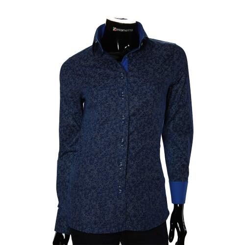 Женская приталенная рубашка в узор LF 1031-4