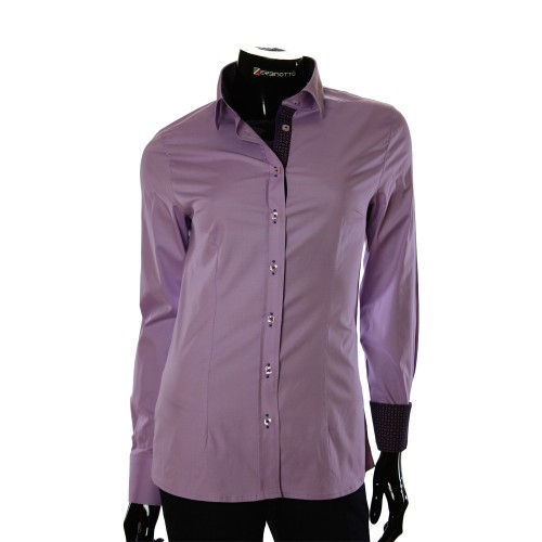 Stretch Cotton Lilac Shirt LF 0001-53