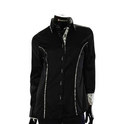 Cotton Rich Black Shirt LF 0017-1