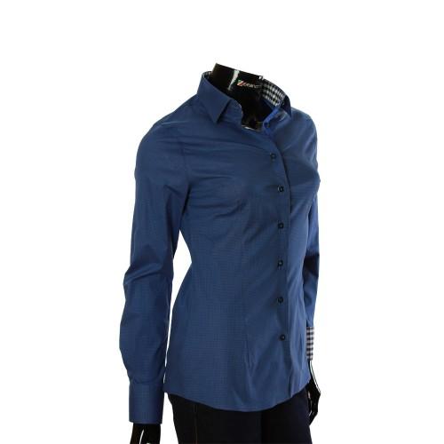 Женская приталенная рубашка в узор LF 0038-4