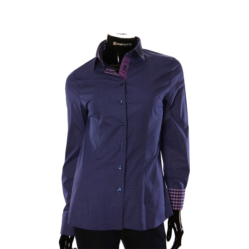 Stretch Cotton Purple Shirt LF 0038-14