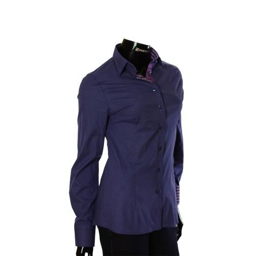 Женская приталенная рубашка в узор LF 0038-14