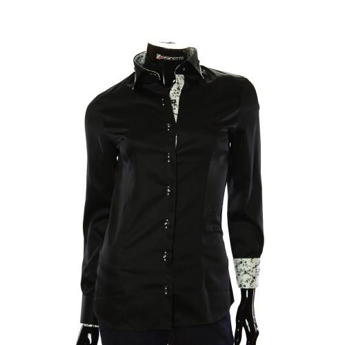 Женская однотонная приталенная рубашка LF 0020-3