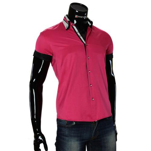 Men`s Slim Fit plain shirt with short sleeve MM 919-2