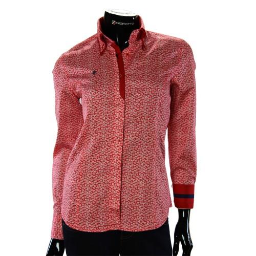 Жіноча приталена сорочка у візерунок TNL 1032-1