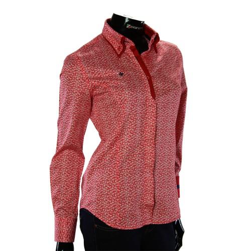 Женская приталенная рубашка в узор TNL 1032-1