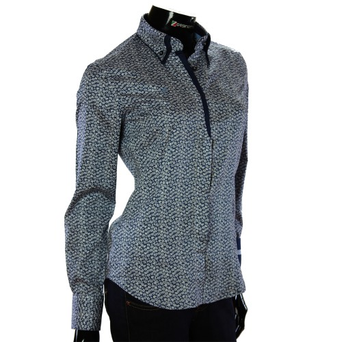 Женская приталенная рубашка в узор TNL 1032-2