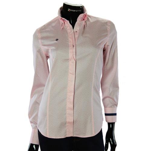 Жіноча приталена сорочка у візерунок TNL 1032-3