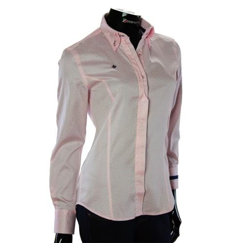 Женская приталенная рубашка в узор TNL 1032-3