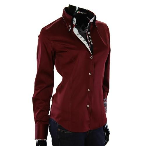 Жіноча однотонна приталена сорочка TNL 1033-3