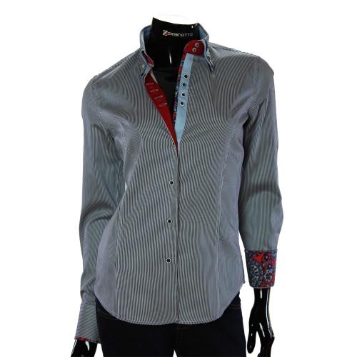 Жіноча приталена сорочка у смужку TNL 1033-5