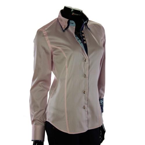 Жіноча приталена сорочка у смужку TNL 1033-6