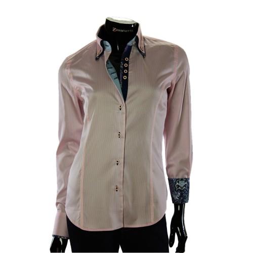 Женская приталенная рубашка в полоску TNL 1033-6