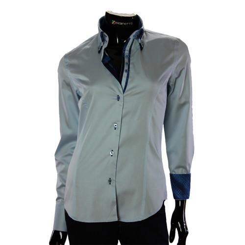 Женская однотонная приталенная рубашка TNL 1034-1