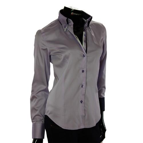 Жіноча однотонна приталена сорочка TNL 1034-2