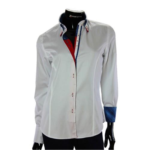 Женская однотонная приталенная рубашка TNL 1034-4