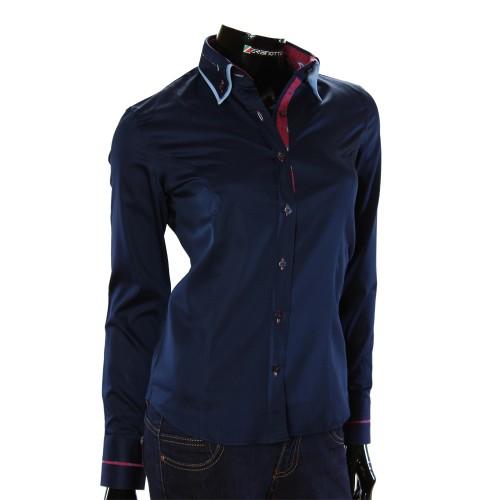 Женская однотонная приталенная рубашка TNL 1034-5